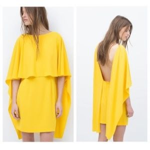 ZARA Cape Dress-yellow